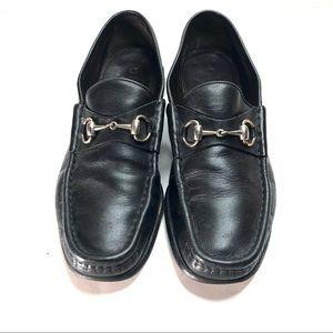 COPY - VTG black leather gucci horsebit loafers s…